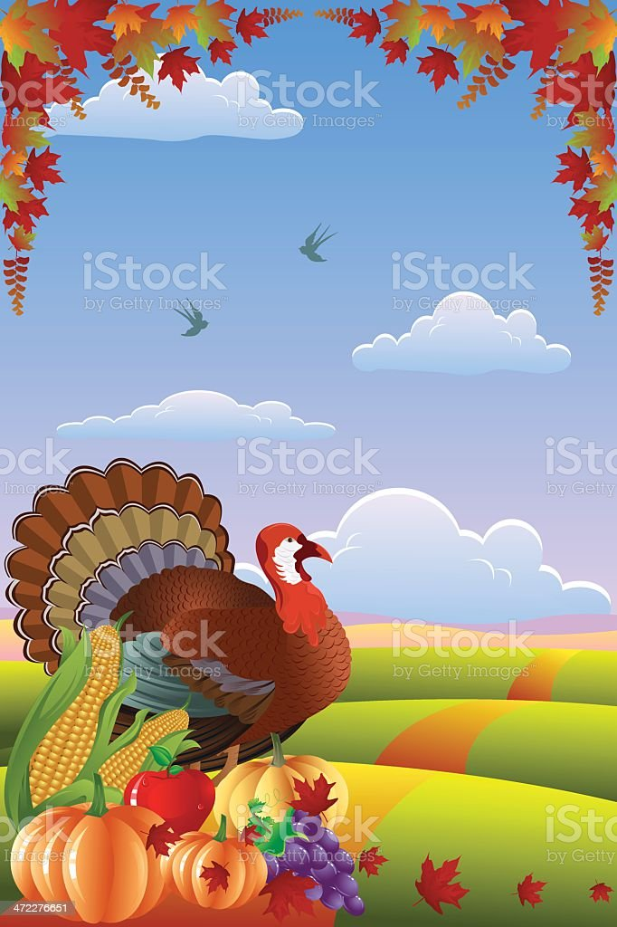 Autumn Banner/Fall Leaves/thanksgiving... royalty-free stock vector art