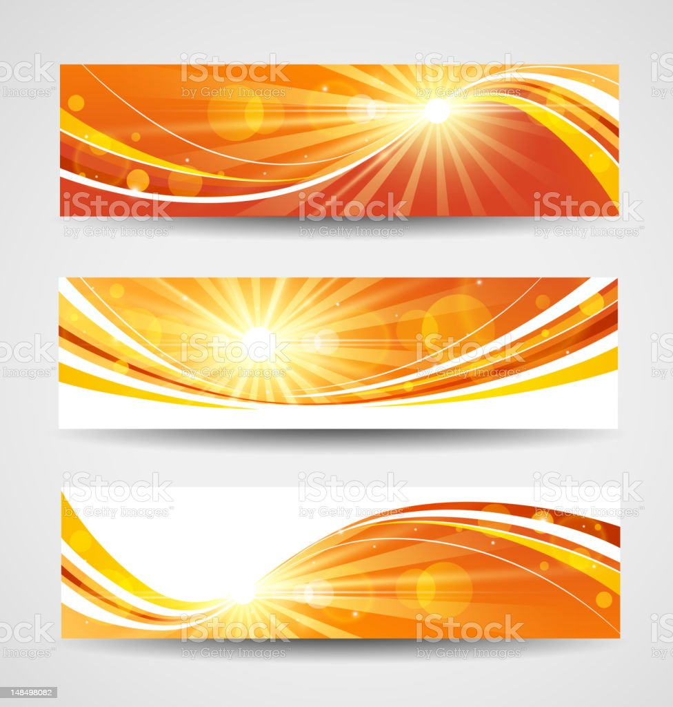 Autumn banners set royalty-free stock vector art