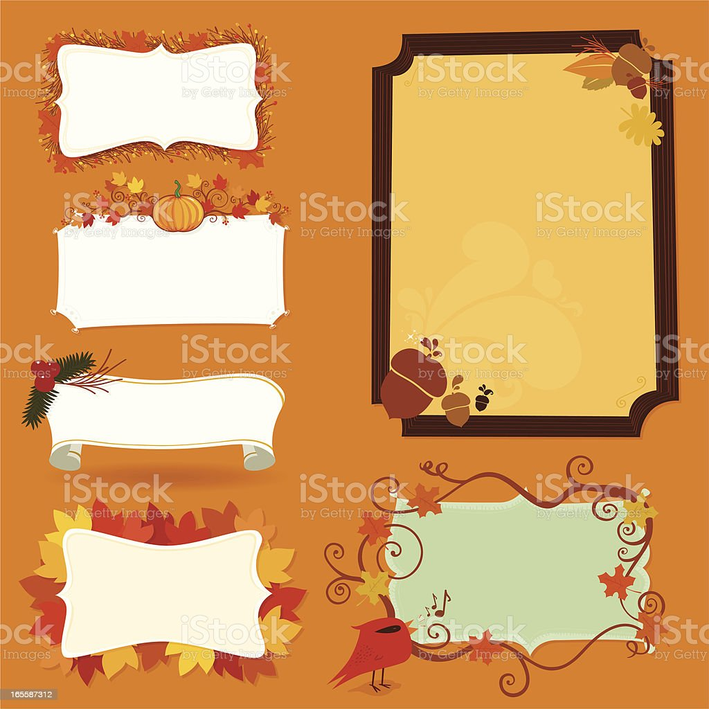 Autumn banners royalty-free stock vector art