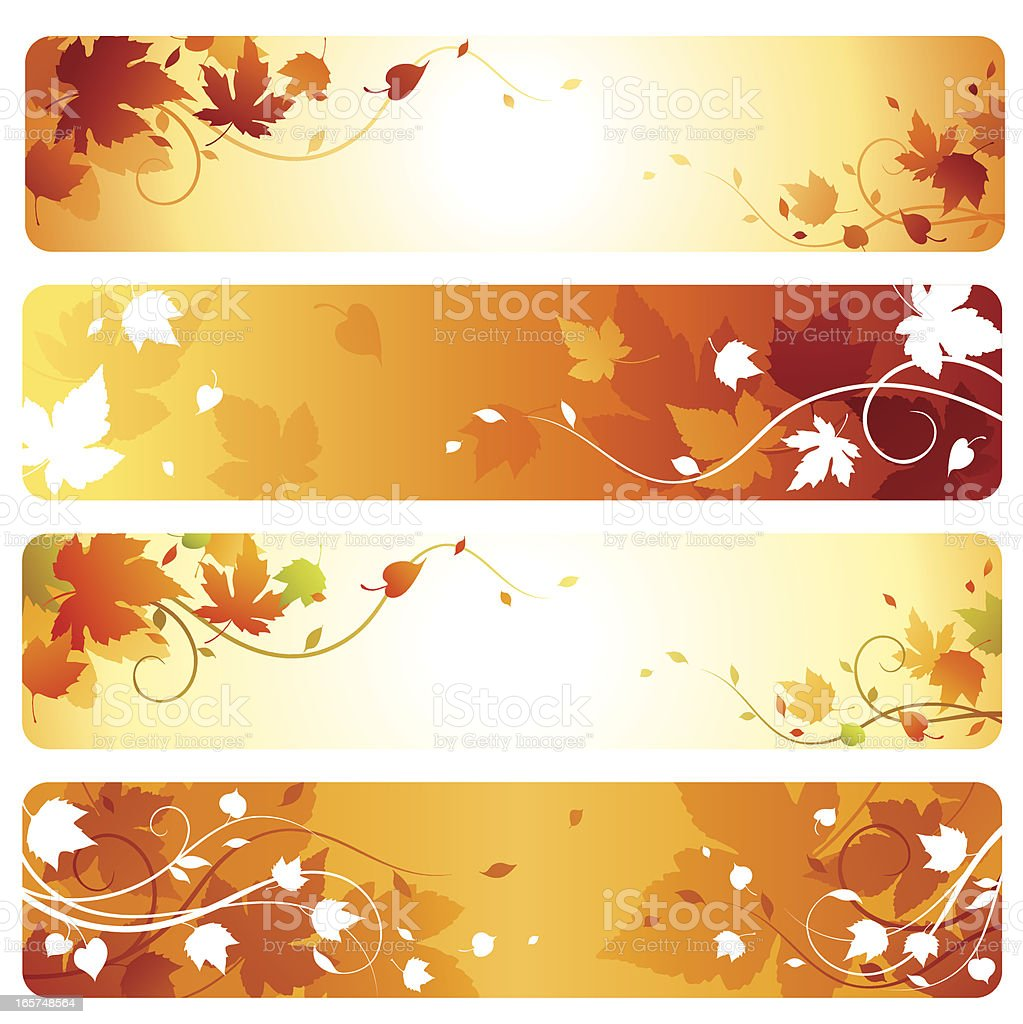 Autumn Banners vector art illustration