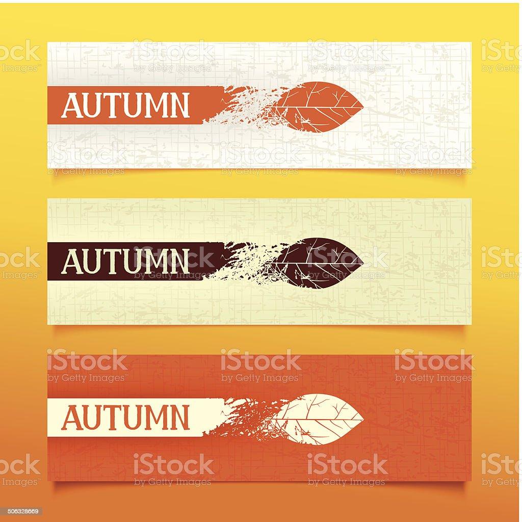 Autumn banners vector art illustration