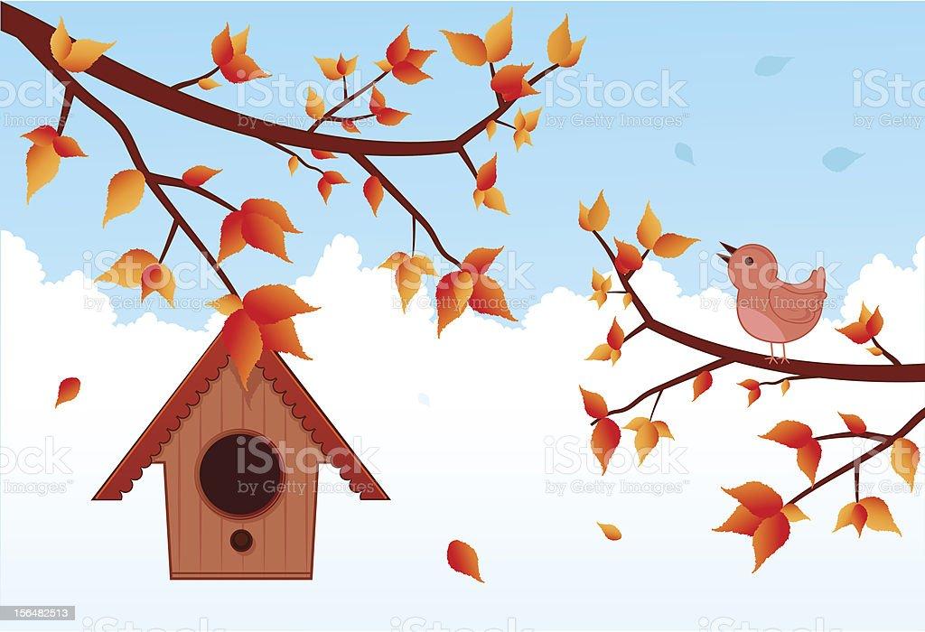 Autumn bird royalty-free stock vector art