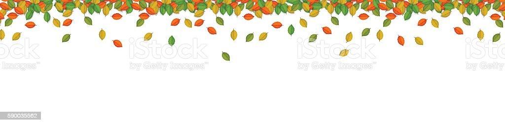 Autumn Border, Banner Fall vector art illustration