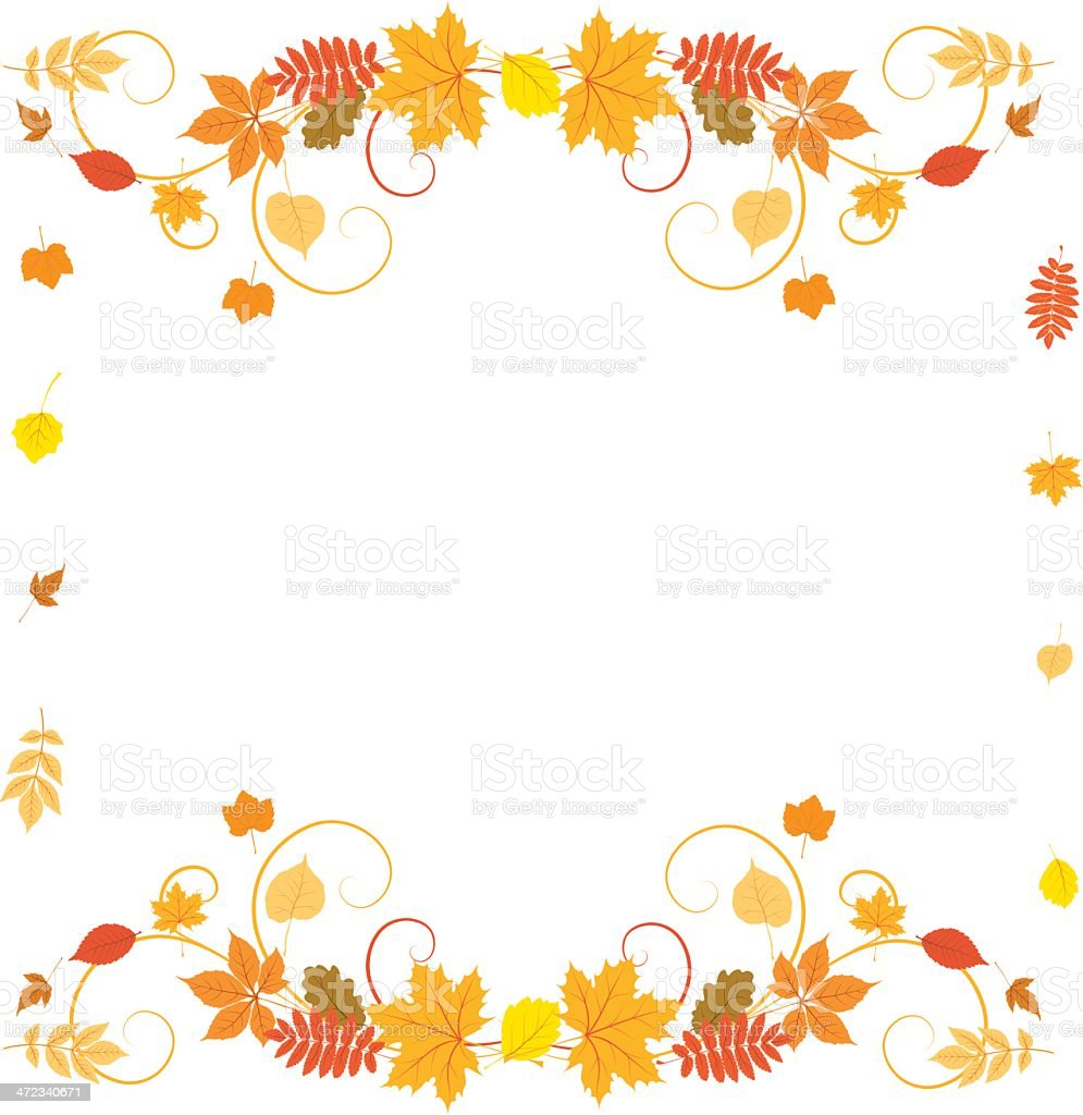 Autumn border royalty-free stock vector art