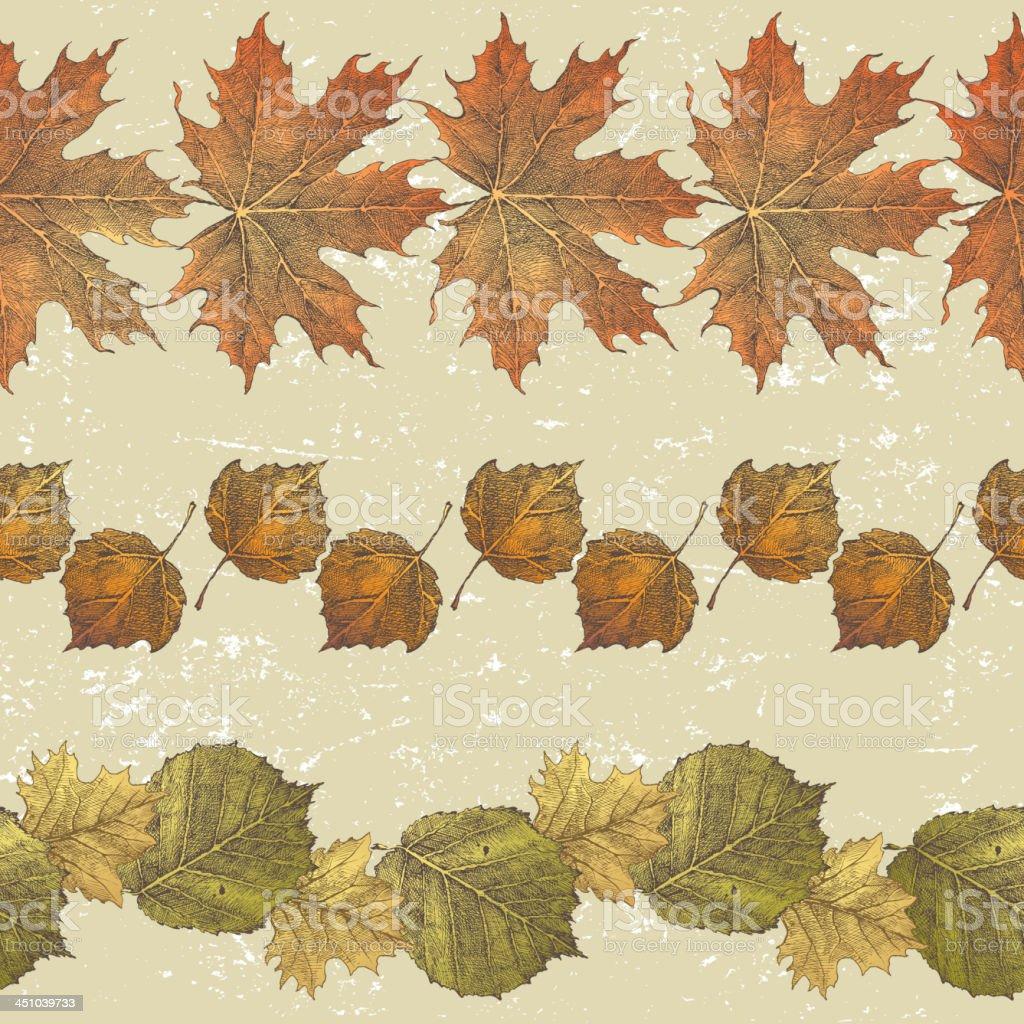 Autumn borders royalty-free stock vector art