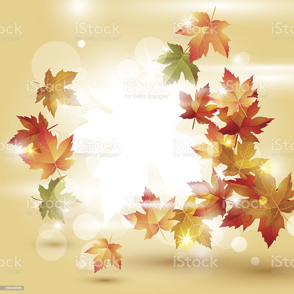 Autumn bright background royalty-free stock vector art