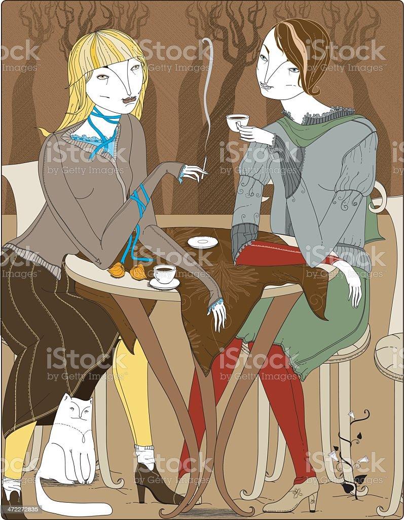 Autumn coffee vector art illustration