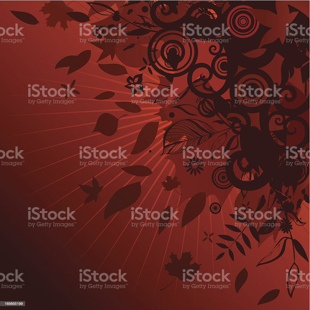 Autumn corner decor design royalty-free stock vector art