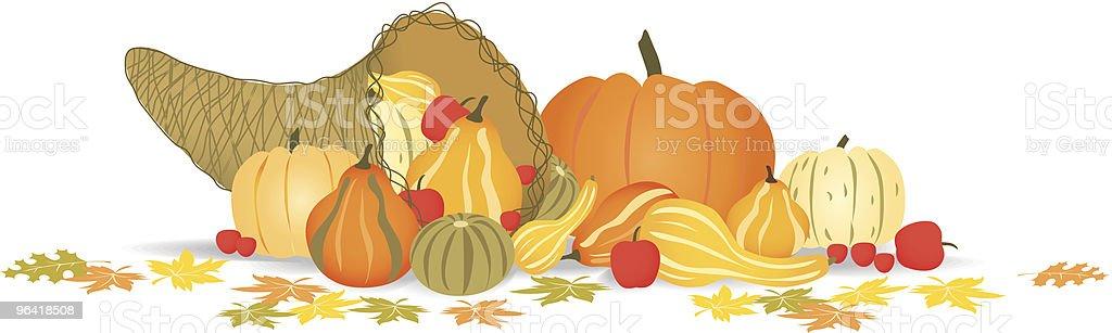 Autumn Cornucopia royalty-free stock vector art