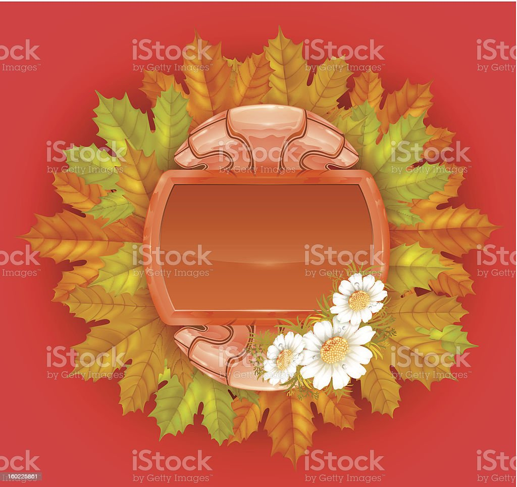 autumn decorative frame royalty-free stock vector art