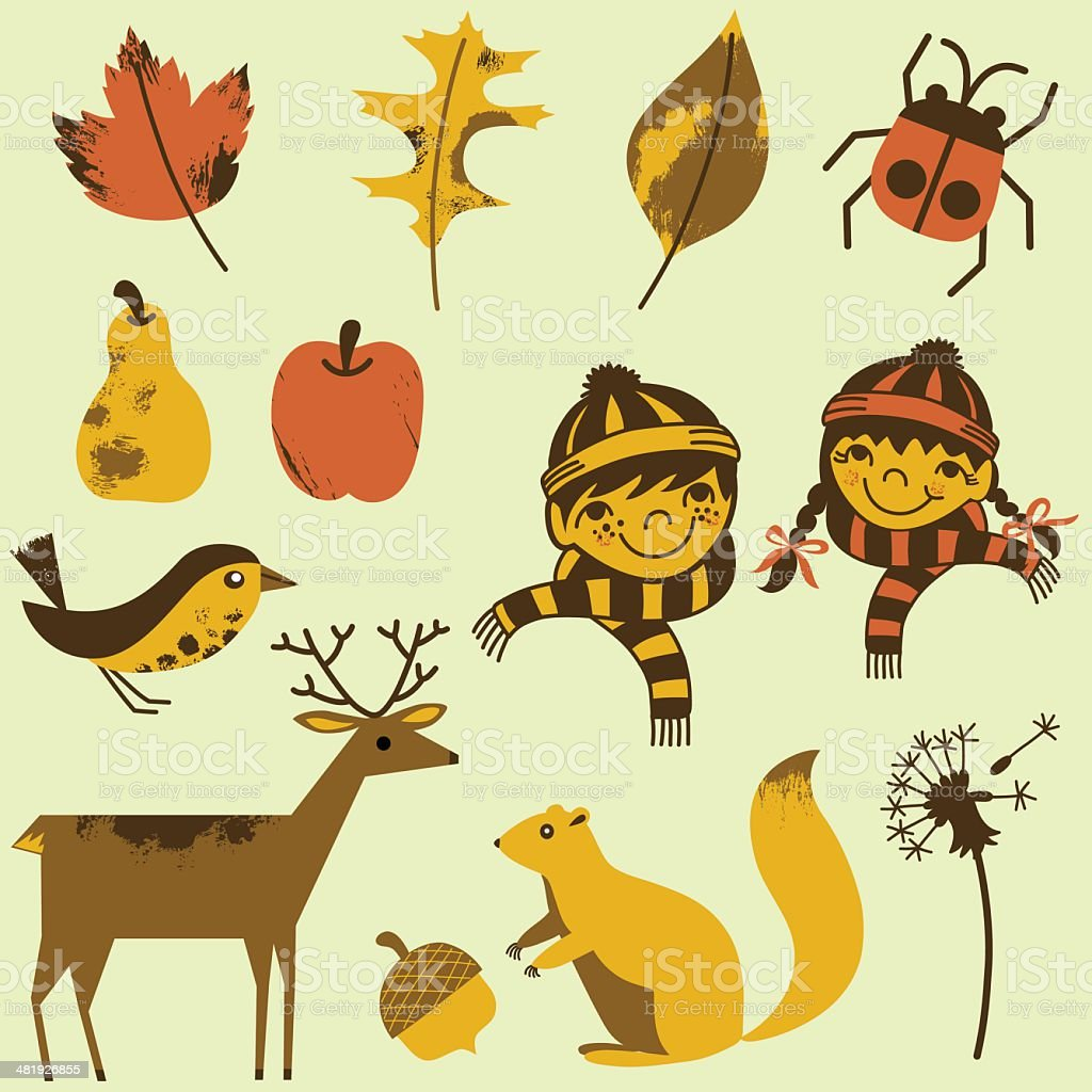 Autumn Elements Set royalty-free stock vector art