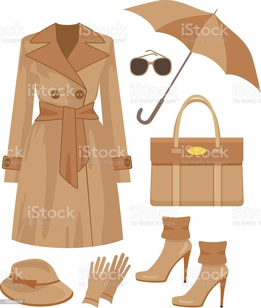 Autumn fashion set. royalty-free stock vector art
