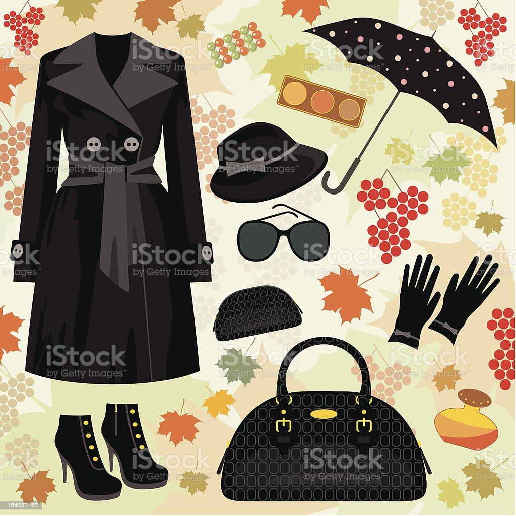 Autumn fashion set royalty-free stock vector art