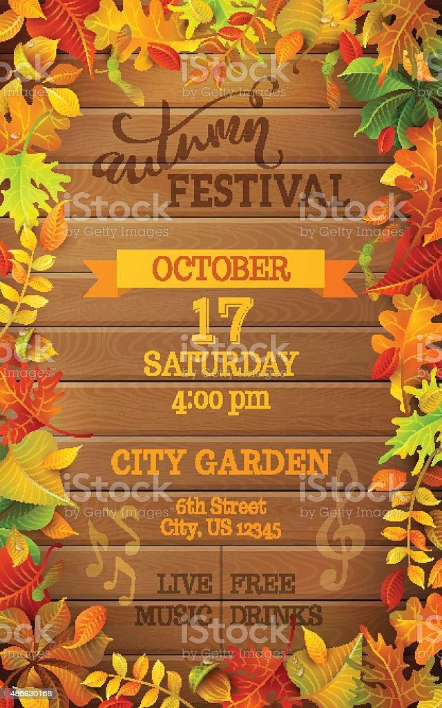 Autumn Festival template. vector art illustration