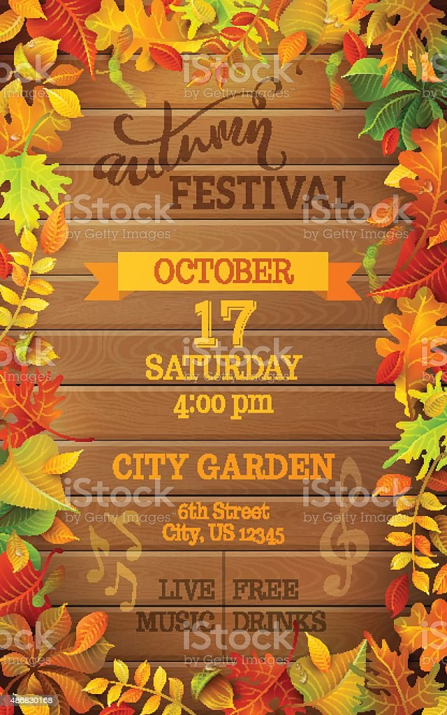 Autumn Festival template. vector art illustration