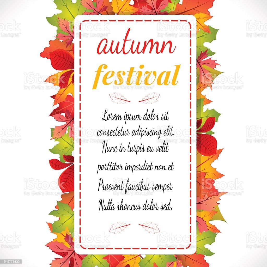 Autumn festival. Vector illustration on white background. stock vecteur libres de droits libre de droits