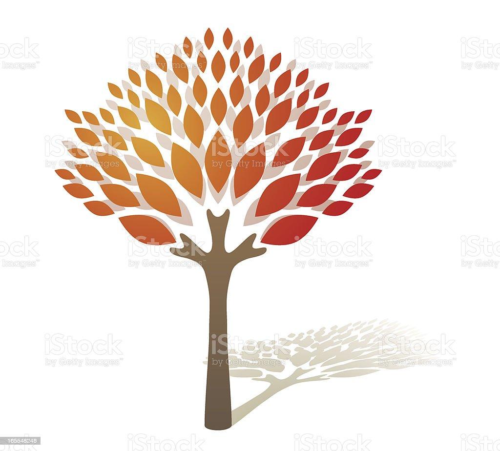Autumn Fire Tree royalty-free stock vector art
