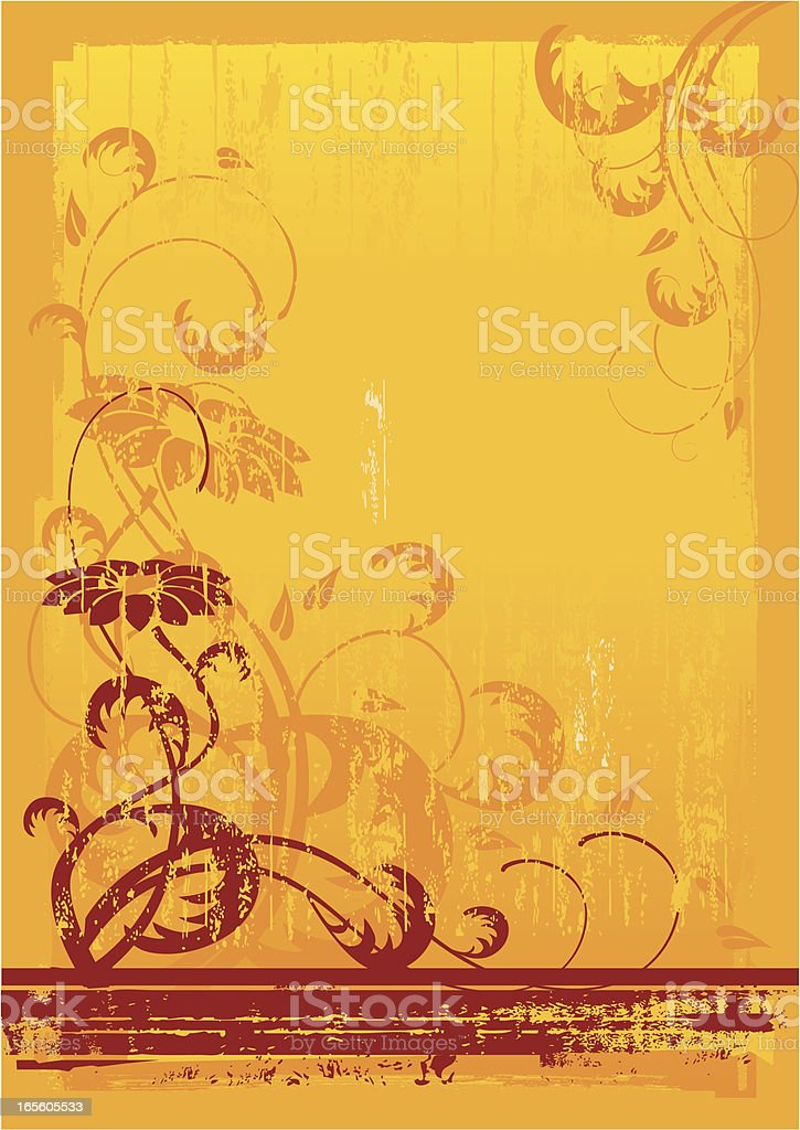Autumn Floral Background royalty-free stock vector art