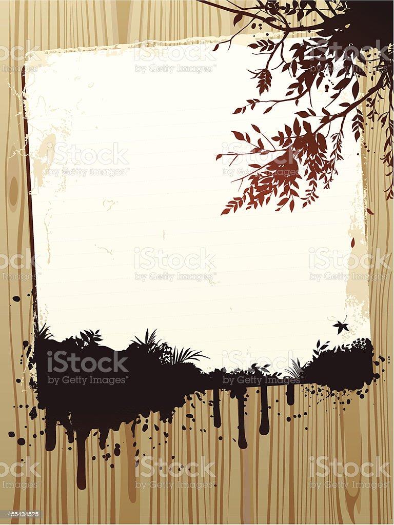 Autumn floral design royalty-free stock vector art