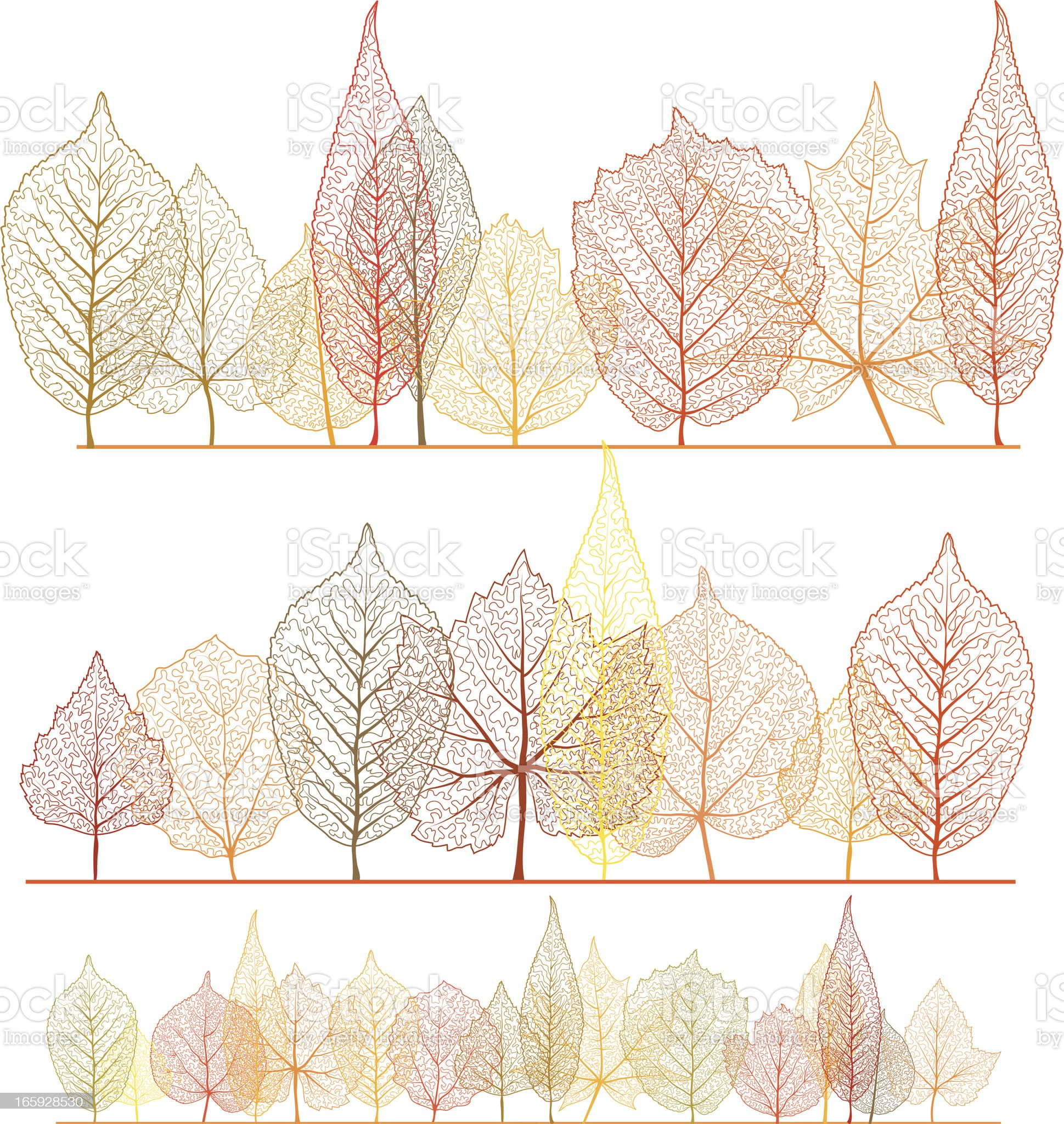 Autumn forest royalty-free stock vector art