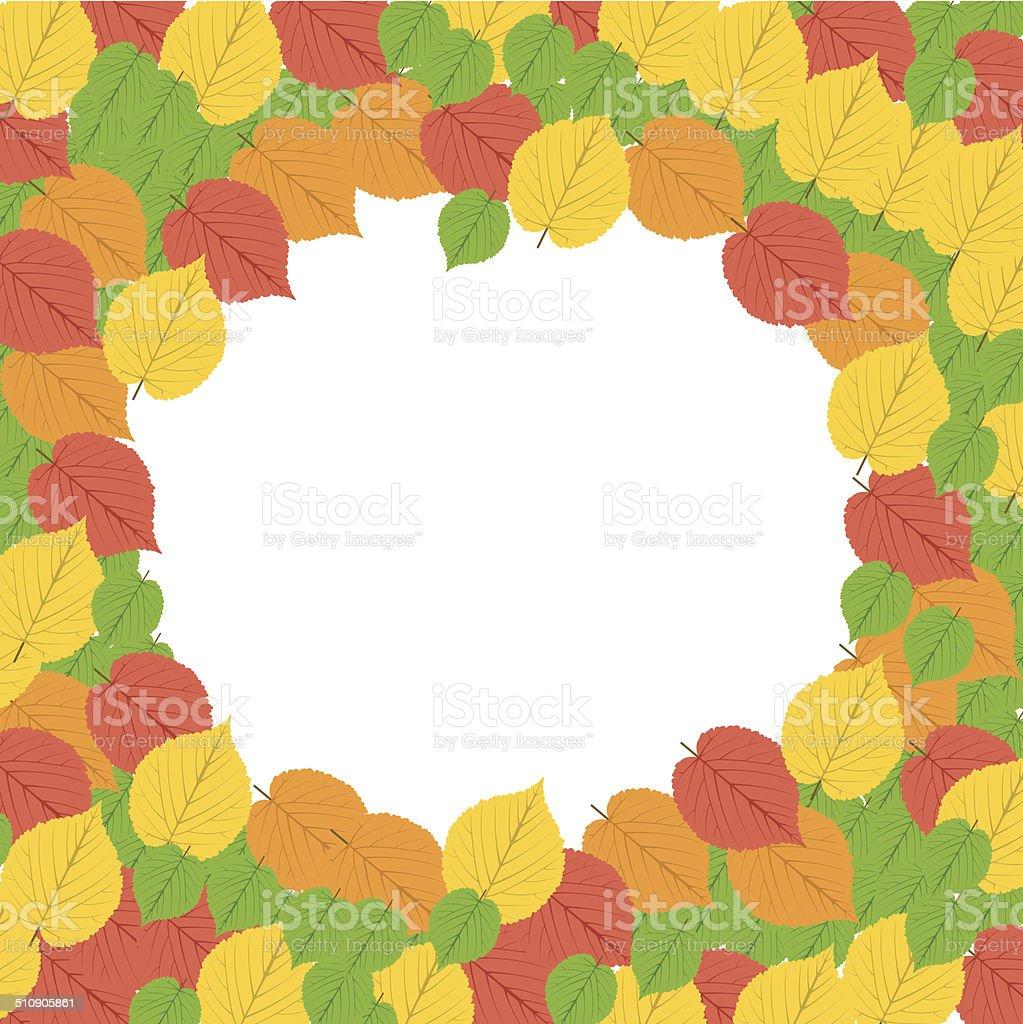 Autumn Frame - Illustration royalty-free stock vector art