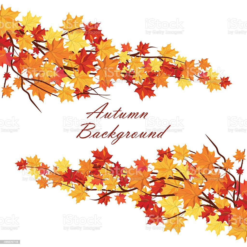 Autumn  Frame vector art illustration