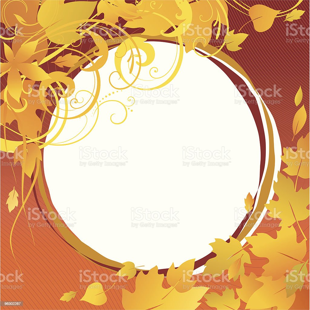 autumn frame royalty-free stock vector art