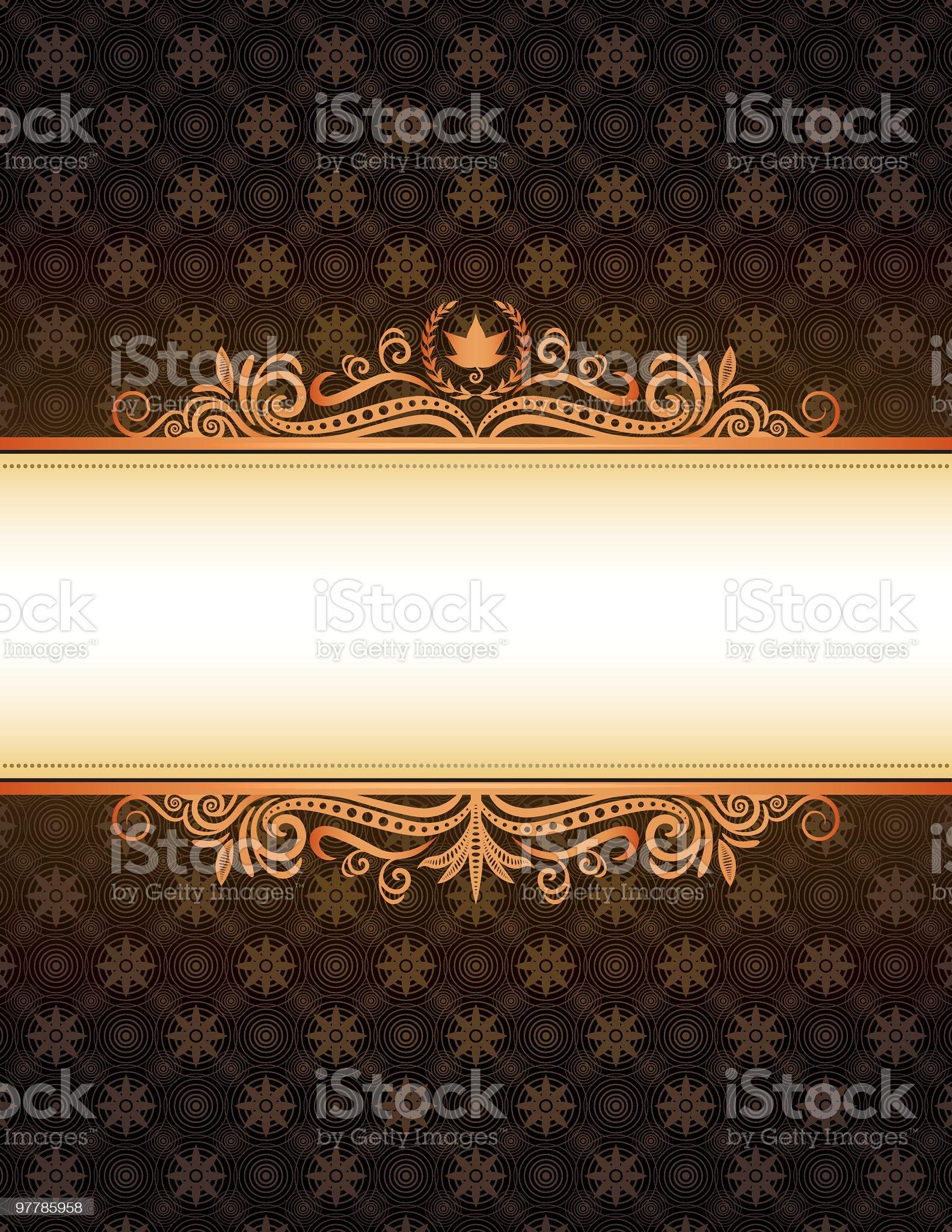 Autumn Frame royalty-free stock vector art
