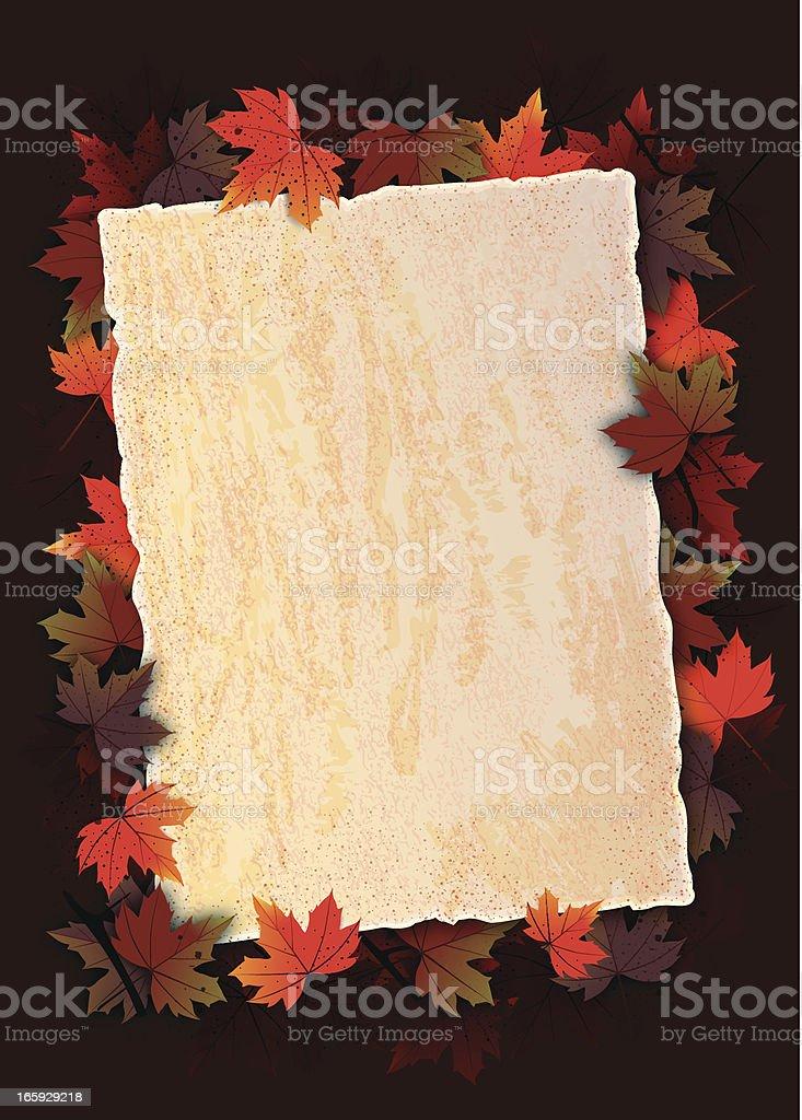 Autumn Greeting royalty-free stock vector art
