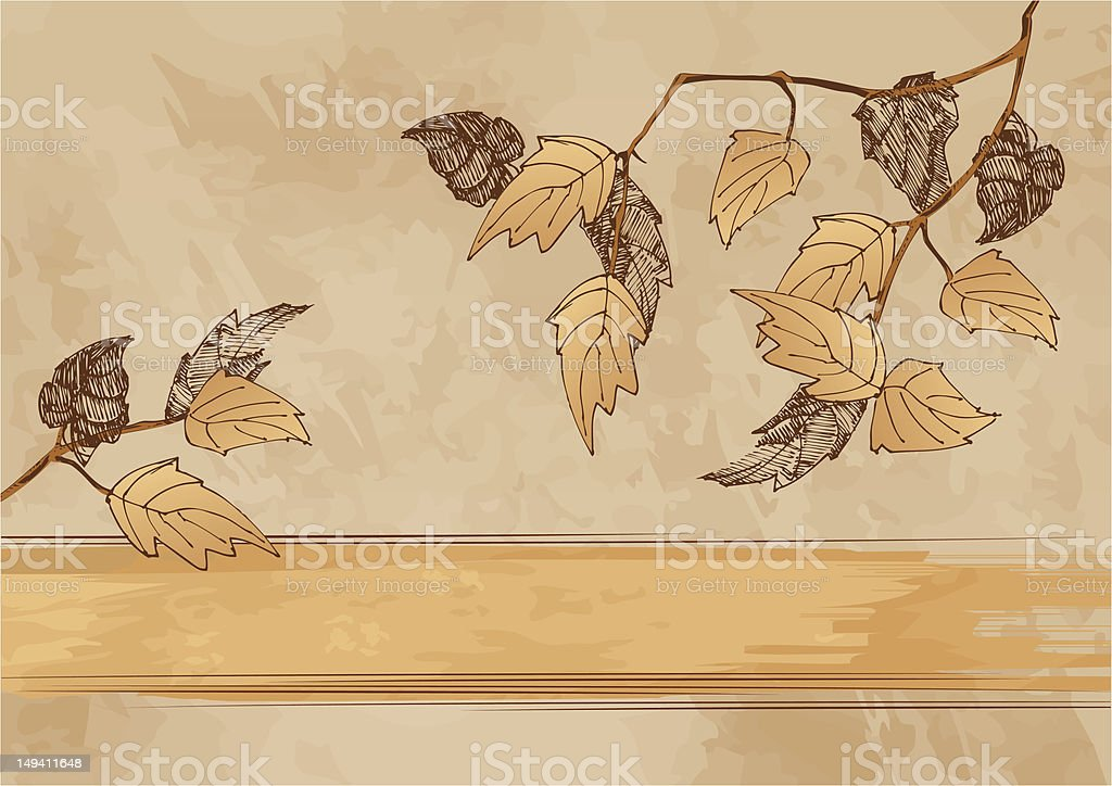 Autumn grunge background royalty-free stock vector art