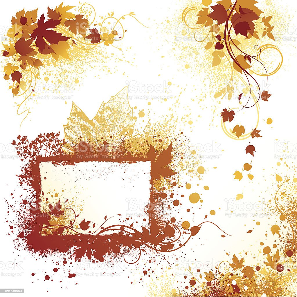 Autumn Grunge Design Elements royalty-free stock vector art