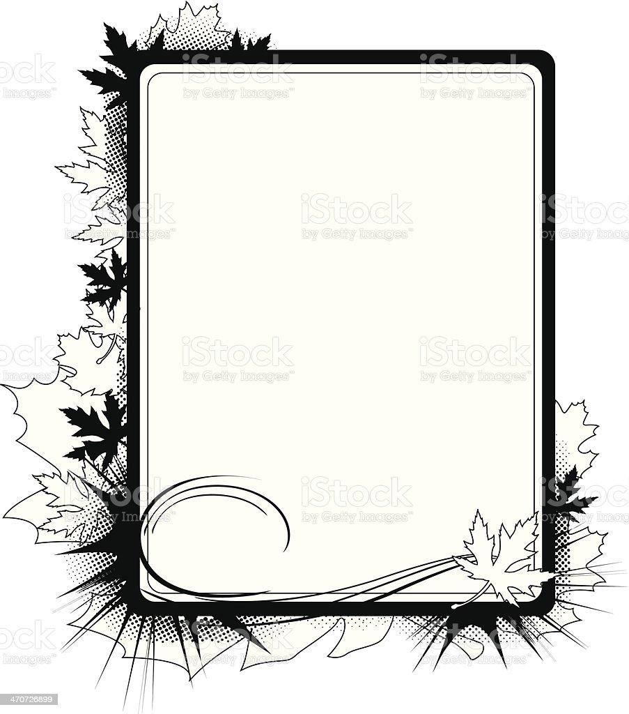 Autumn Grunge Frame royalty-free stock vector art
