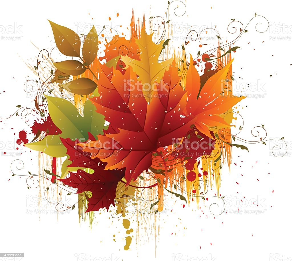 Autumn Grunge royalty-free stock vector art