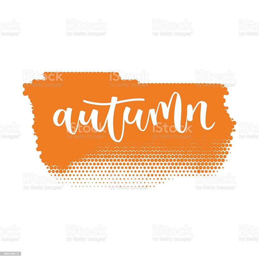 Autumn hand written inscription vector art illustration