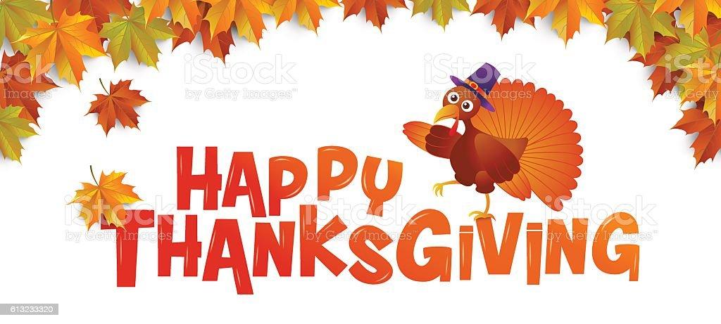 autumn ,Happy Thanksgiving vector art illustration
