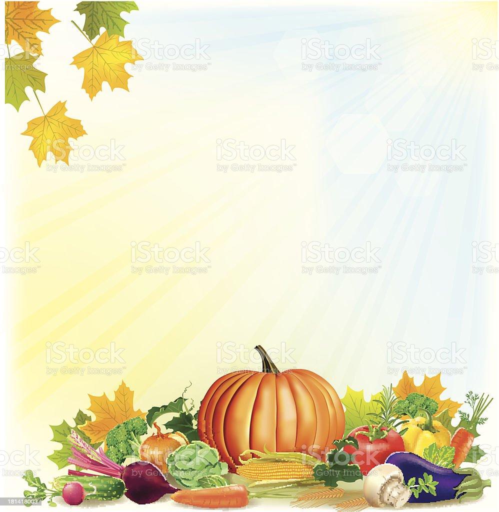 Autumn harvest background royalty-free stock vector art