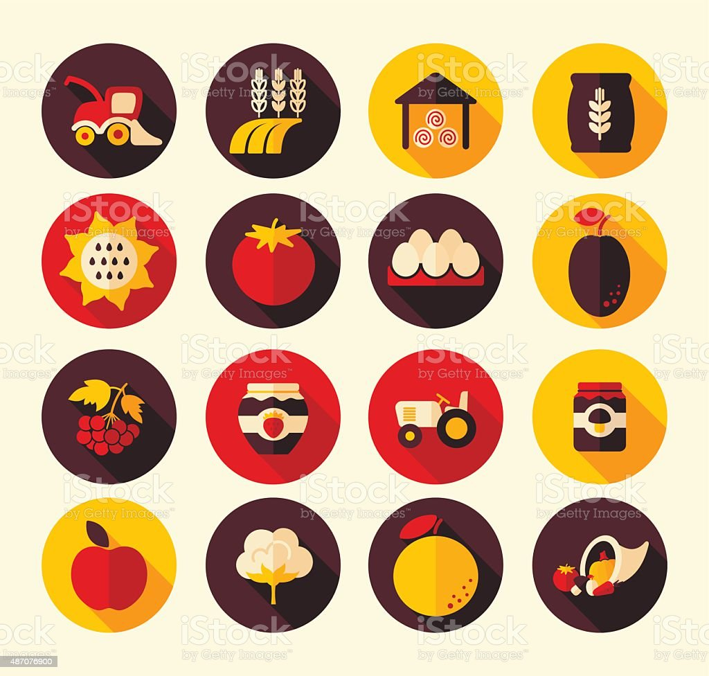 Autumn Harvest Thanksgiving flat icon vector art illustration