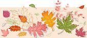 Autumn Horizontal Seamless Design