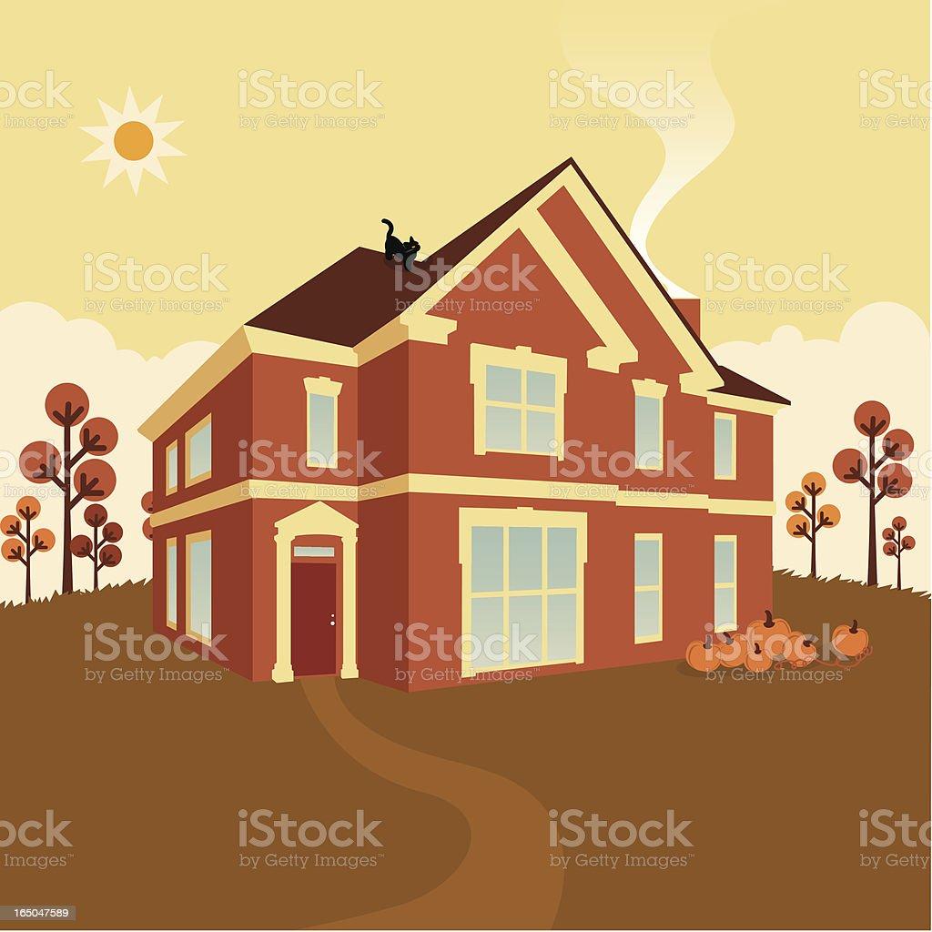 autumn house royalty-free stock vector art