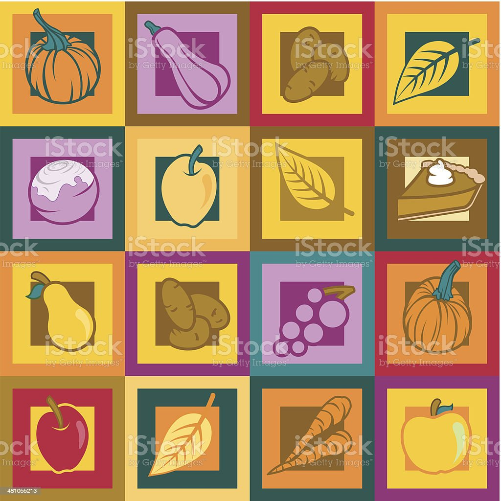Autumn Icons C royalty-free stock vector art