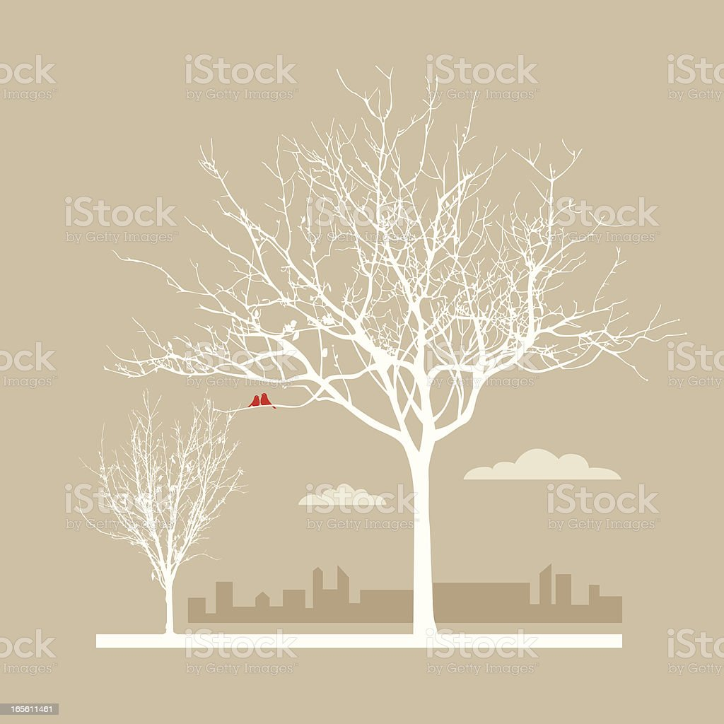 autumn in the city royalty-free stock vector art