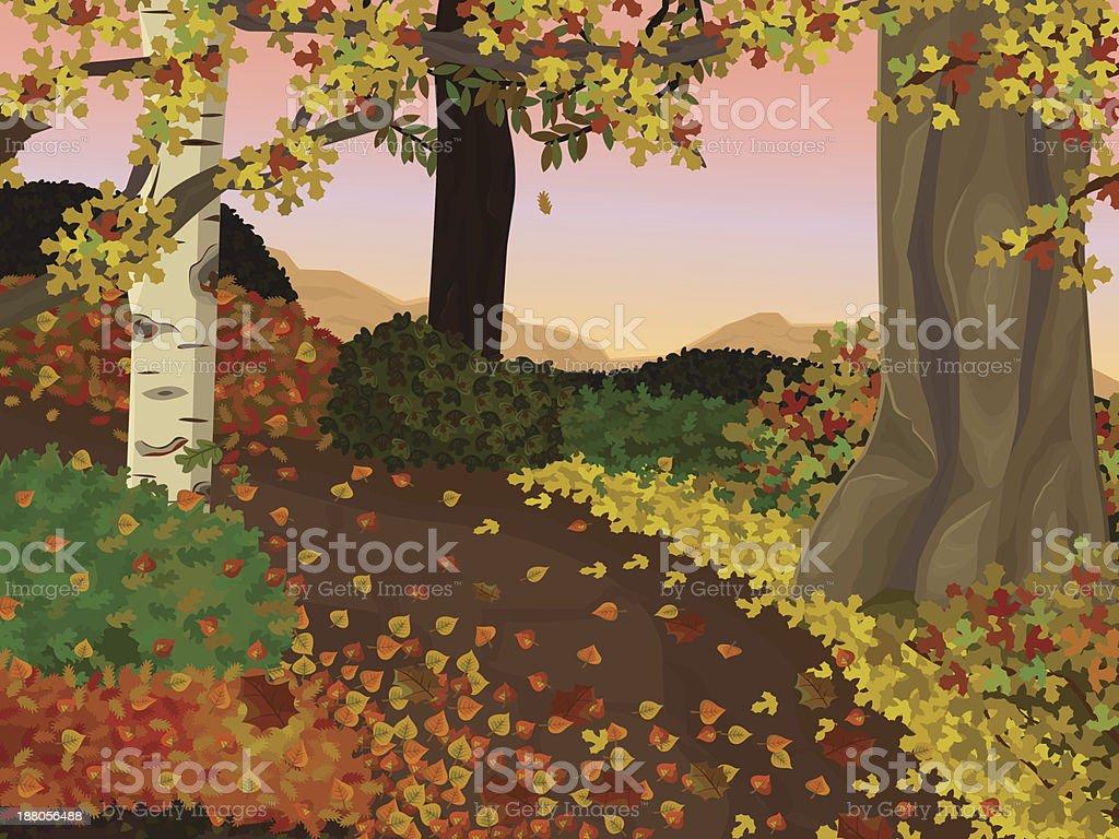 Autumn landscape royalty-free stock vector art