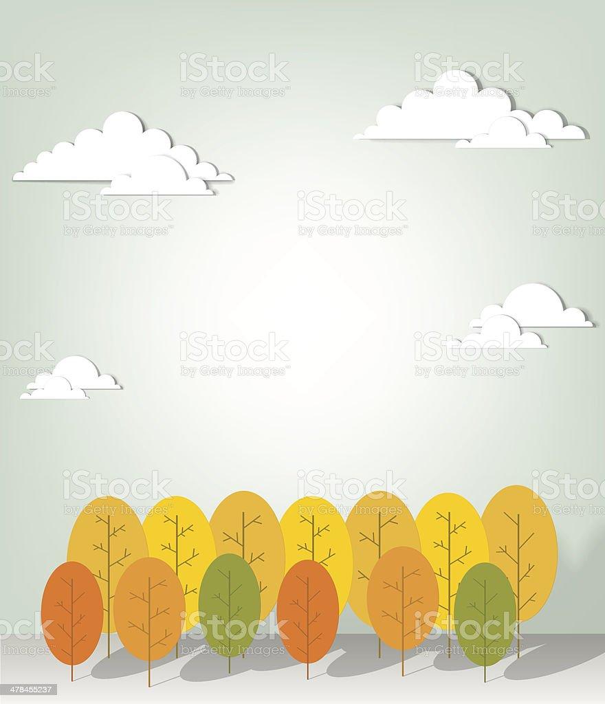 Paysage d'automne stock vecteur libres de droits libre de droits