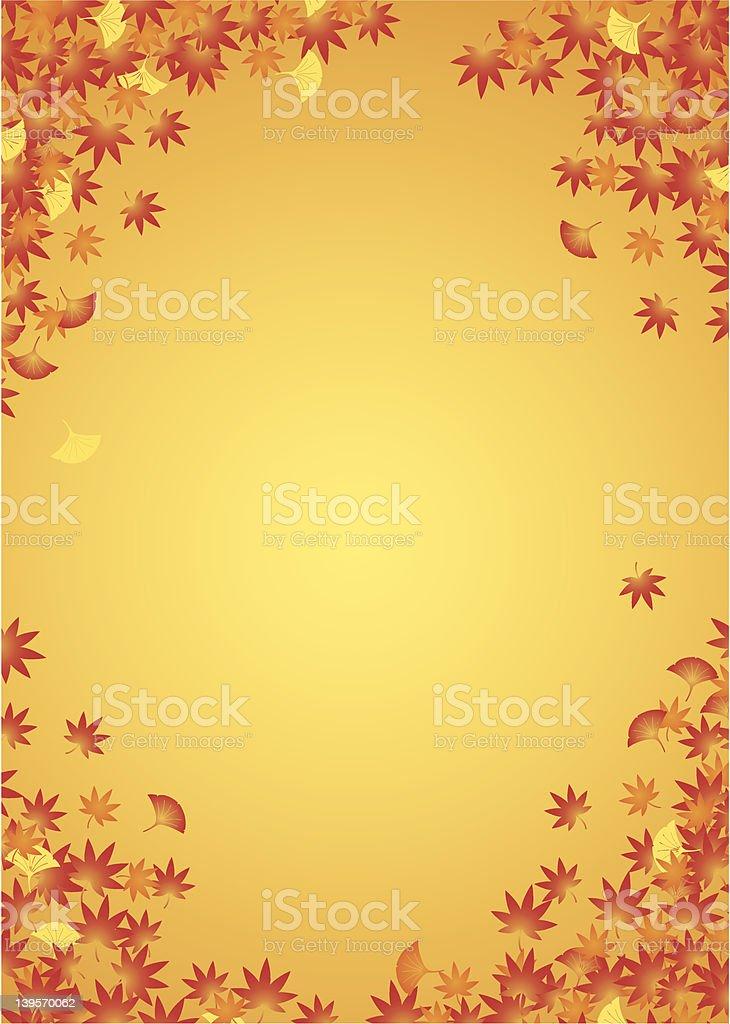 Autumn leaf background vector art illustration