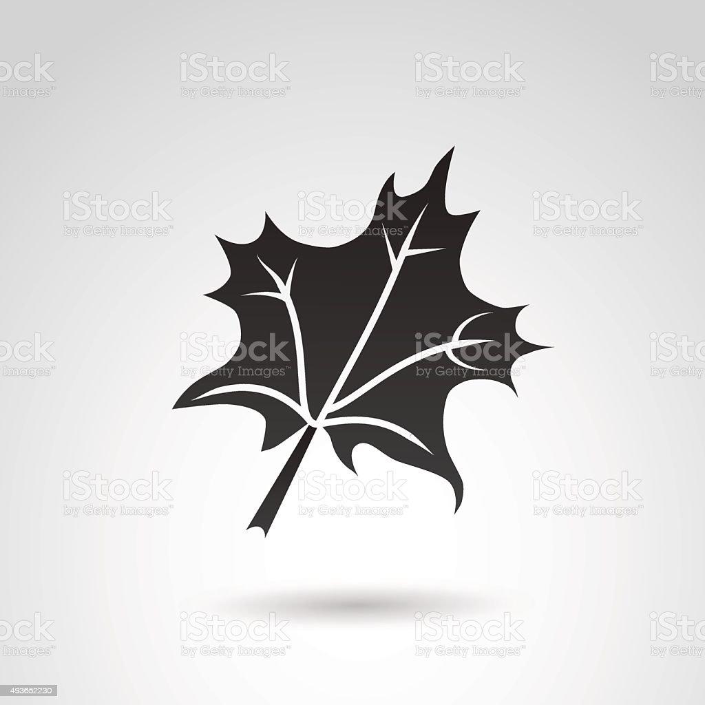 Autumn leaf icon. vector art illustration