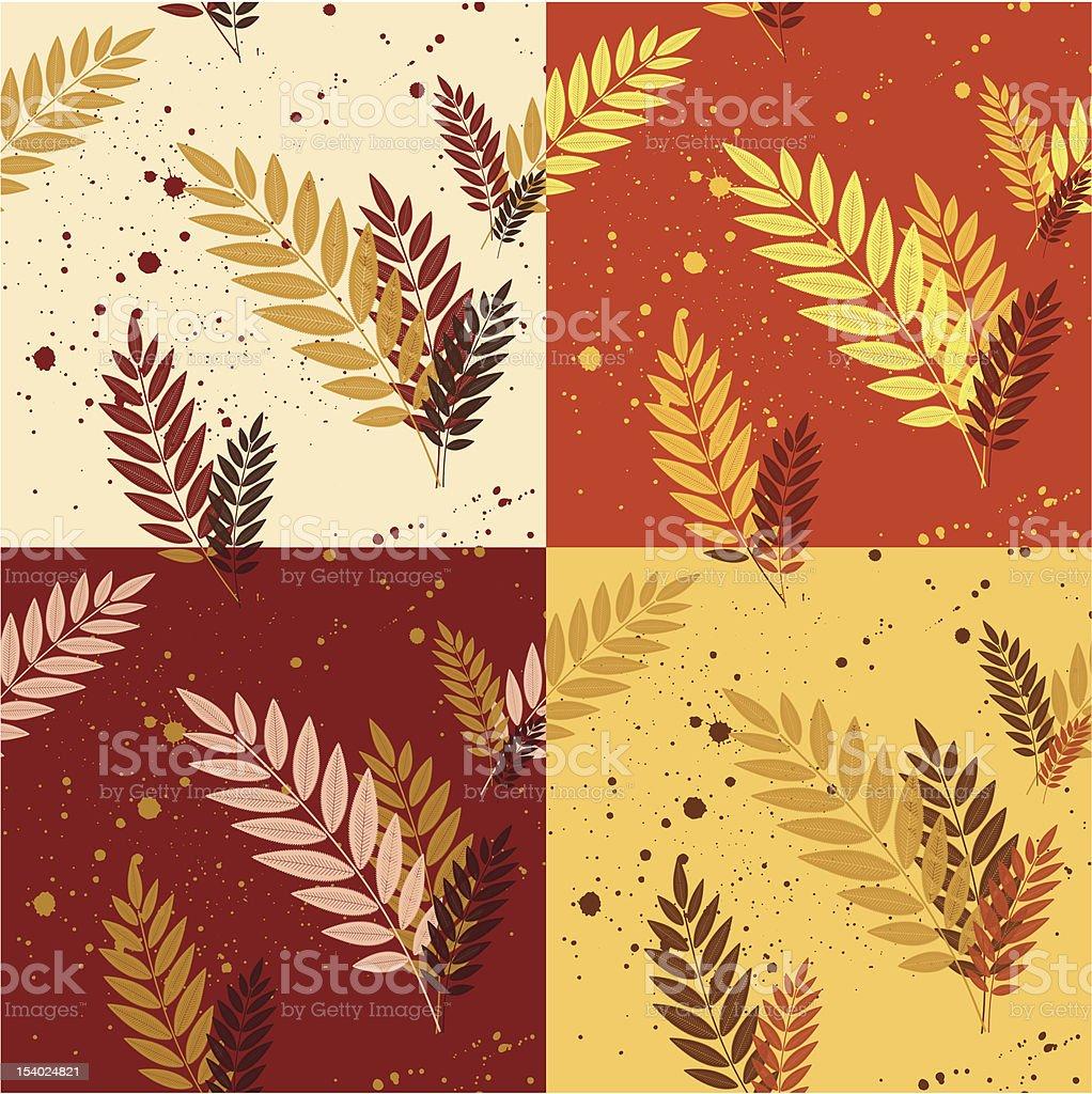 Autumn leaf pattern royalty-free stock vector art