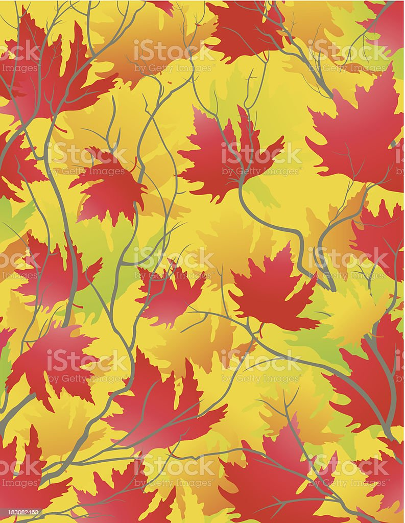 Automn Leafs Background / Décor automnal royalty-free stock vector art