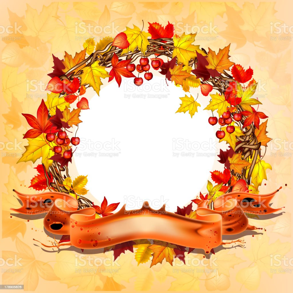 Autumn leaves banner royalty-free stock vector art