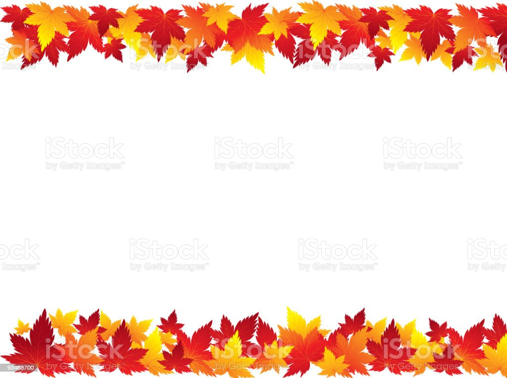 Autumn Leaves Border stock vector art 93468700 | iStock