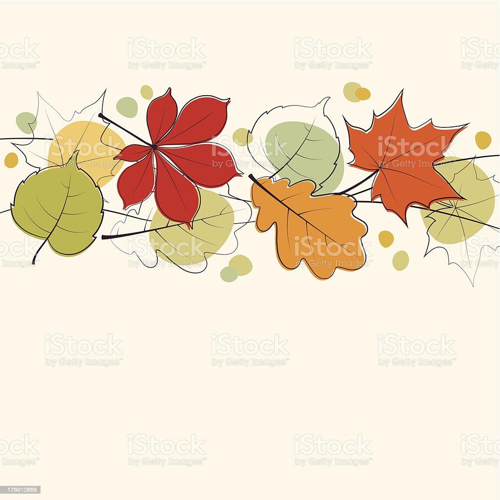 Autumn leaves card royalty-free stock vector art